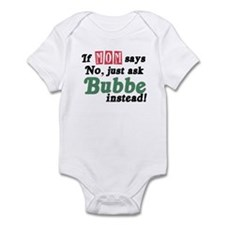 Just Ask Bubbe! Funny Infant Bodysuit