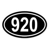 920 Oval Decal