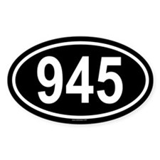 945 Oval Decal