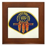 Cache Creek Police Framed Tile