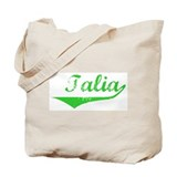 Talia Vintage (Green) Tote Bag
