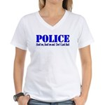 Hook'em Police Women's V-Neck T-Shirt