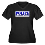 Hook'em Police Women's Plus Size V-Neck Dark T-Shi