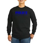 Hook'em Police Long Sleeve Dark T-Shirt