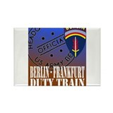 The Berlin to Frankfurt Duty Rectangle Magnet (10