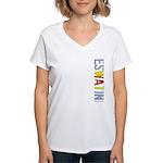 eSwatini Stamp Women's V-Neck T-Shirt