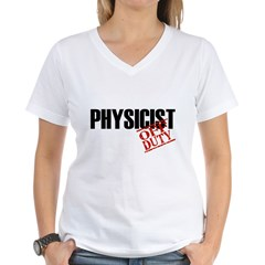Off Duty Physicist Women's V-Neck T-Shirt