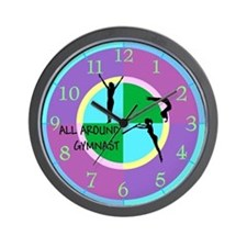 All Around Gymnastics Wall Clock