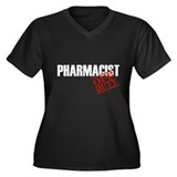 Off Duty Pharmacist Women's Plus Size V-Neck Dark