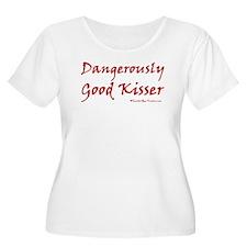 Dangerously Good Kisser Women's Plus Scoop Neck T