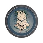 English Setter Puppy Wall Clock