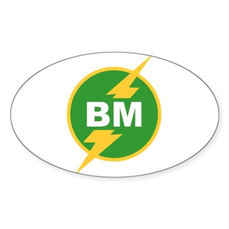 BM Best Man Oval Sticker