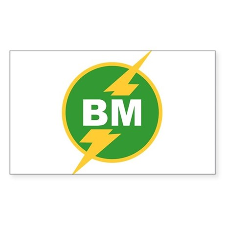BM Best Man Rectangle Sticker