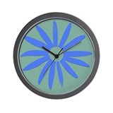 Square Periwinkle Rudbeckia Wall Clock