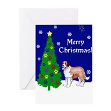 St Bernard Christmas Greeting Card