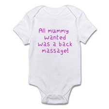 'All mummy wanted was a back massage!' very cute