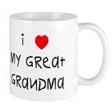 I love my great grandma Small Mug
