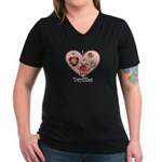 I Love Daylilies Women's V-Neck Dark T-Shirt