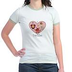 I Love Daylilies Jr. Ringer T-Shirt