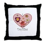 I Love Daylilies Throw Pillow