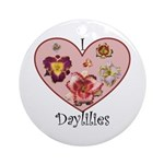 I Love Daylilies Ornament (Round)