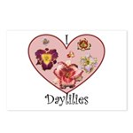I Love Daylilies Postcards (Package of 8)