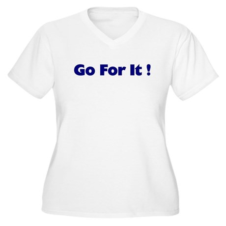 Go For It Women's Plus Size V-Neck T-Shirt