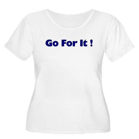 Go For It Women's Plus Size Scoop Neck T-Shirt