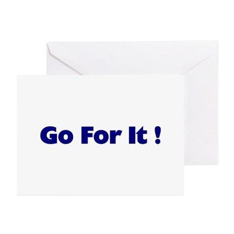 Go For It Greeting Cards (Pk of 10)