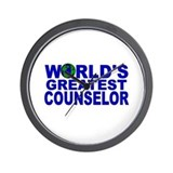 World's Greatest Counselor Wall Clock