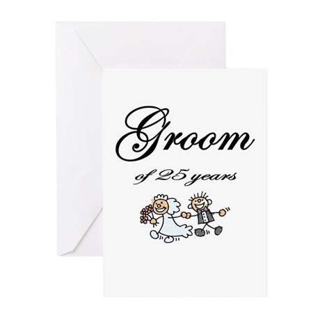 25th Wedding Anniversary Groom Gifts Greeting Card