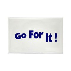 Go For It Rectangle Magnet (100 pack)