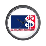 Major League Accountant Wall Clock