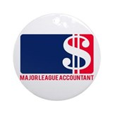 Major League Accountant Ornament (Round)