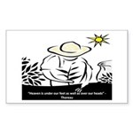 Heaven - Thoreau Rectangle Sticker