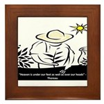 Heaven - Thoreau Framed Tile