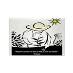 Heaven - Thoreau Rectangle Magnet