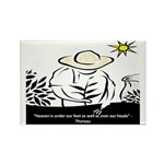 Heaven - Thoreau Rectangle Magnet (10 pack)