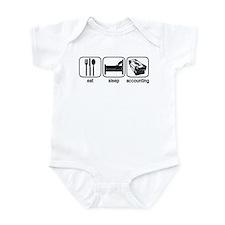 Eat Sleep Accounting Infant Bodysuit