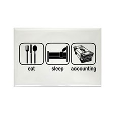 Eat Sleep Accounting Rectangle Magnet