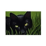 Black Cat Art Rectangle Magnet