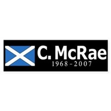 Colin McRae Tribute Bumper Sticker