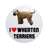 I Love Wheaten Terriers Ornament (Round)