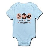 Peace Love Paramedic EMT Infant Bodysuit
