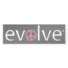 Evolve to Peace - Pink Bumper Bumper Sticker