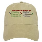 Italian Greyhound Property Laws 2 Baseball Cap