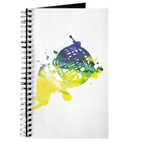 Paint Splat French Horn Journal
