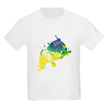 Paint Splat French Horn Kids Light T-Shirt