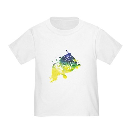 Paint Splat French Horn Toddler T-Shirt