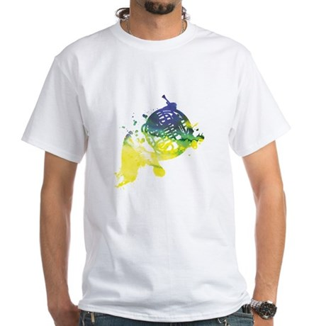 Paint Splat French Horn White T-Shirt